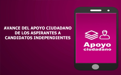 Avance de Candidaturas Independientes